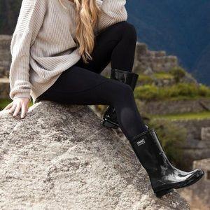 ✨ New Roma Emma Classic Black Rain Boots
